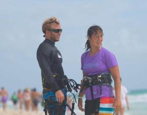 Lene with Bruno, a previous Assistant IKO Instructor student who is now a fully certified instructor!